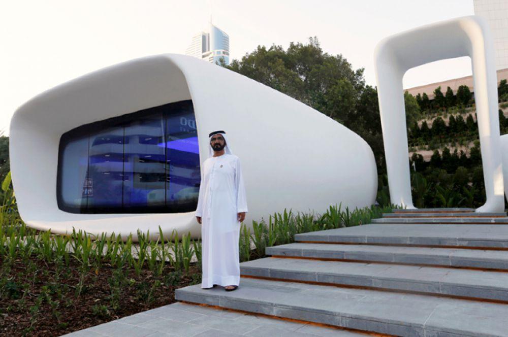 Офис. Дубайский «офис будущего» был построен за 17 дней и обошелся в $140 тысяч. В работе над зданием участвовала команда из 19 человек.