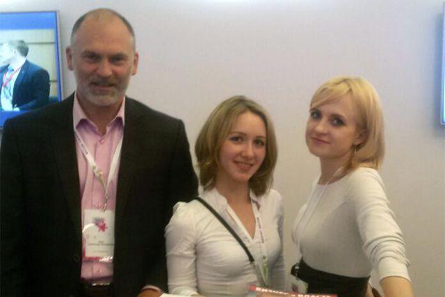 Святослав Лось на форуме «Бизнес-весна 2016» с работницами головной организации «ОПОРА РОССИИ».