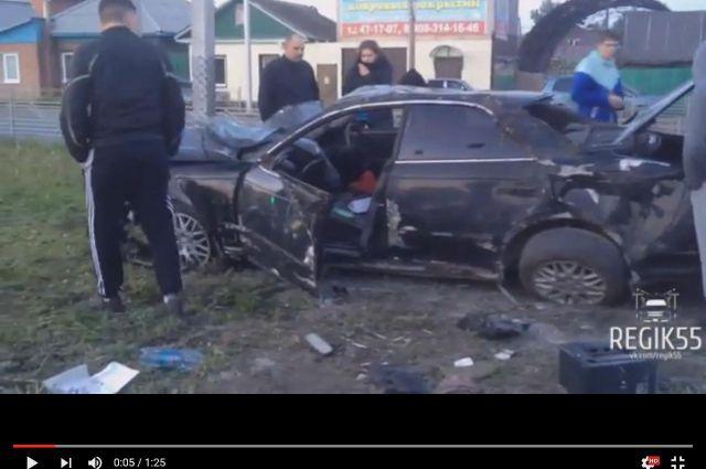 Водителя после аварии в салоне не оказалось.
