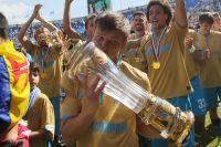Андрей Аршавин празднует победу «Зенита» в чемпионате России по футболу после матча 30 тура против «Локомотива». Санкт-Петербург, 2015 год.