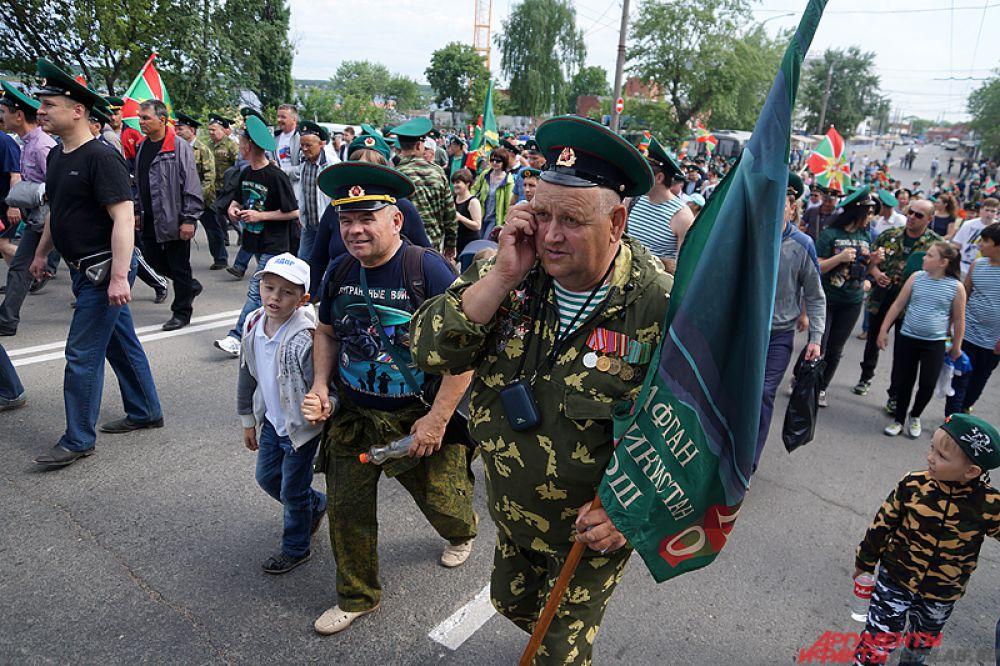 По традиции День пограничника в Перми отмечают с самого утра.
