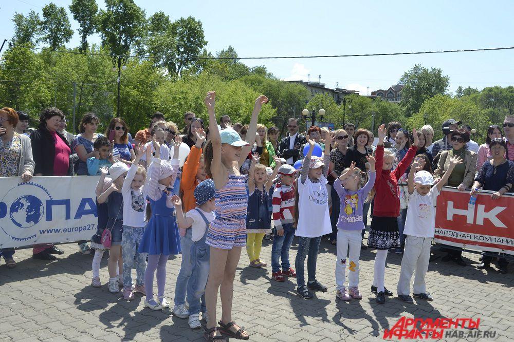 После концертной части детки приняли участие в конкурсах.