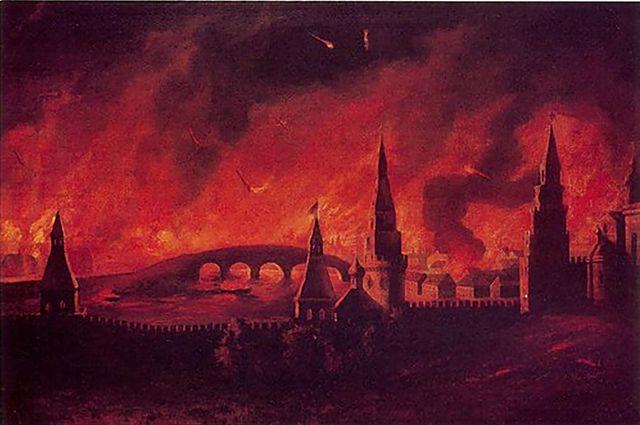 Московский пожар 1812 года. Картина неизвестного художника.