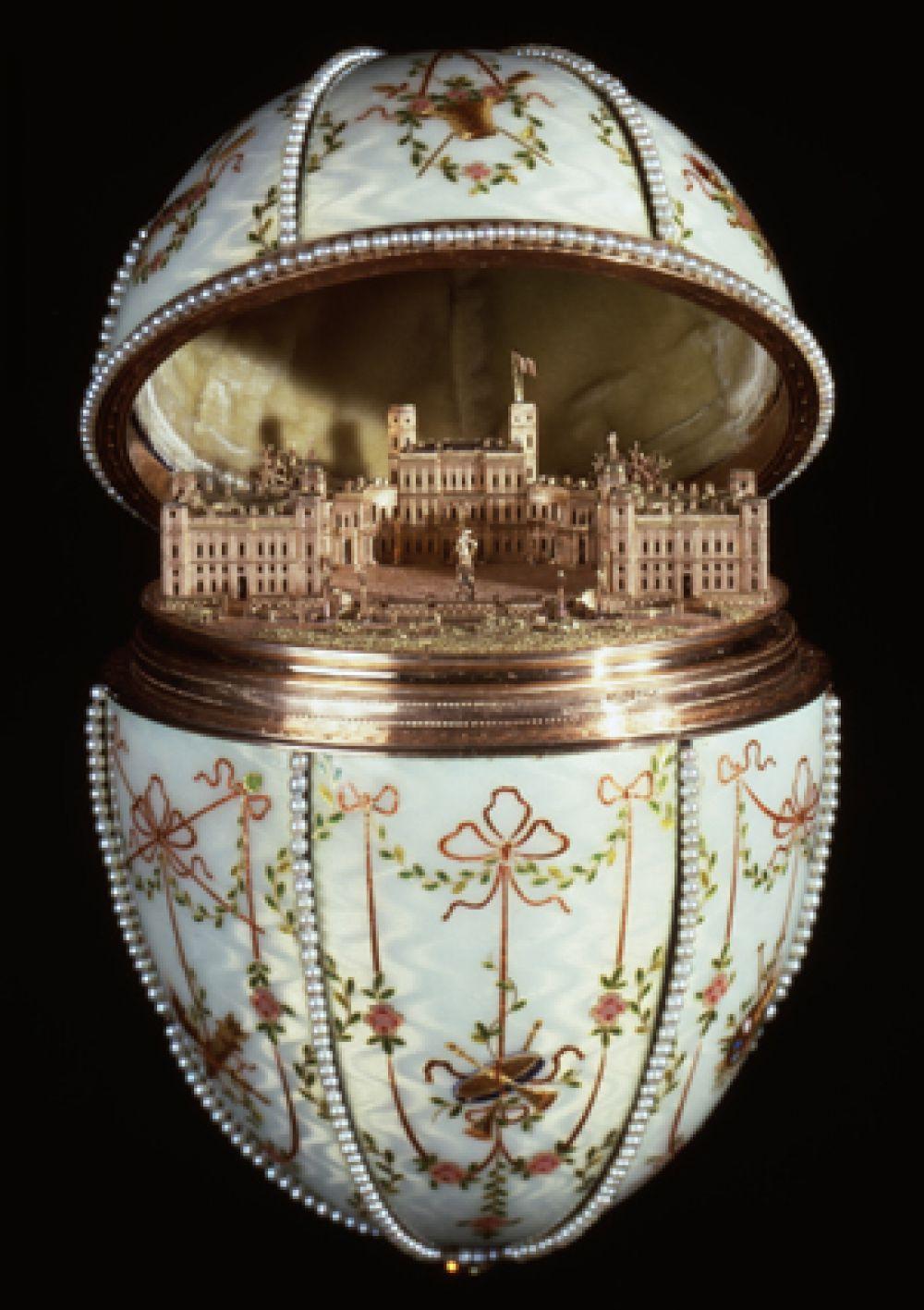 «Гатчинский дворец», 1901 год. Изображение главной загородной резиденции вдовствующей императрицы.