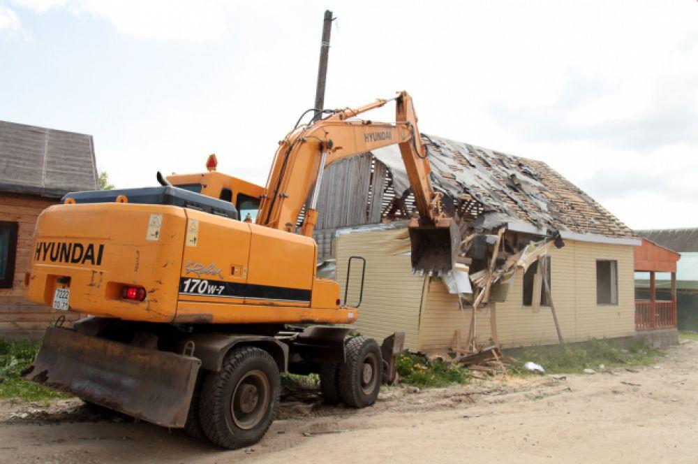 Тем, чьи дома снесли, будет предоставлена гостиница