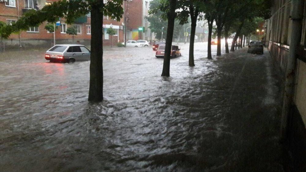 Затопленная улица Пионерская.