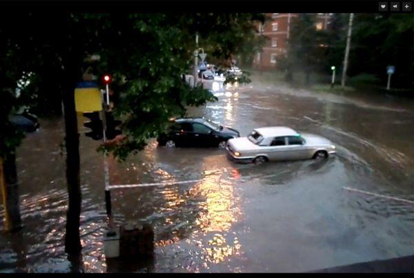 Перекресток на улице Ленина.