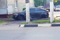 ДТП с участием BMW X6 в Подольске.