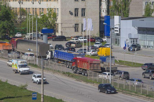 Центр Омска встал в пробках.