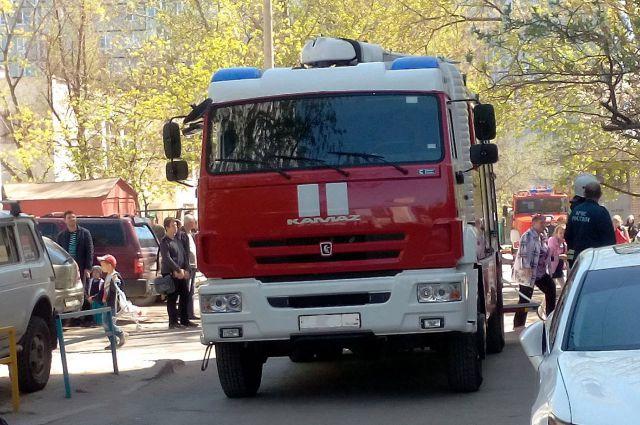 Пожар произошёл в Любинском районе.
