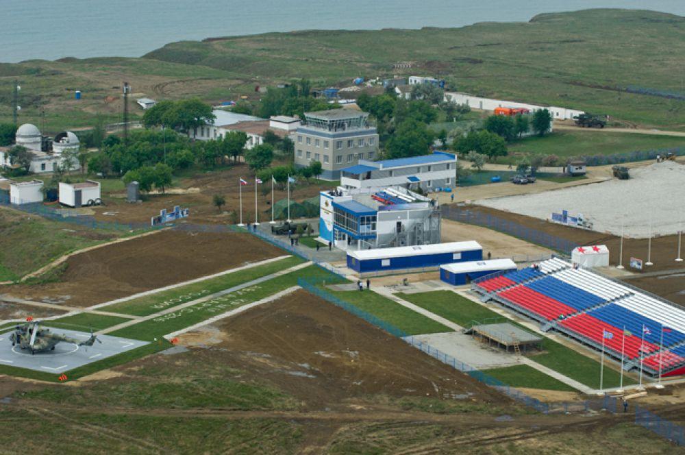 Испытательный полигон Воздушно-космических сил РФ «Чауда» под Феодосией, где проходит подготовка к соревнованиям.