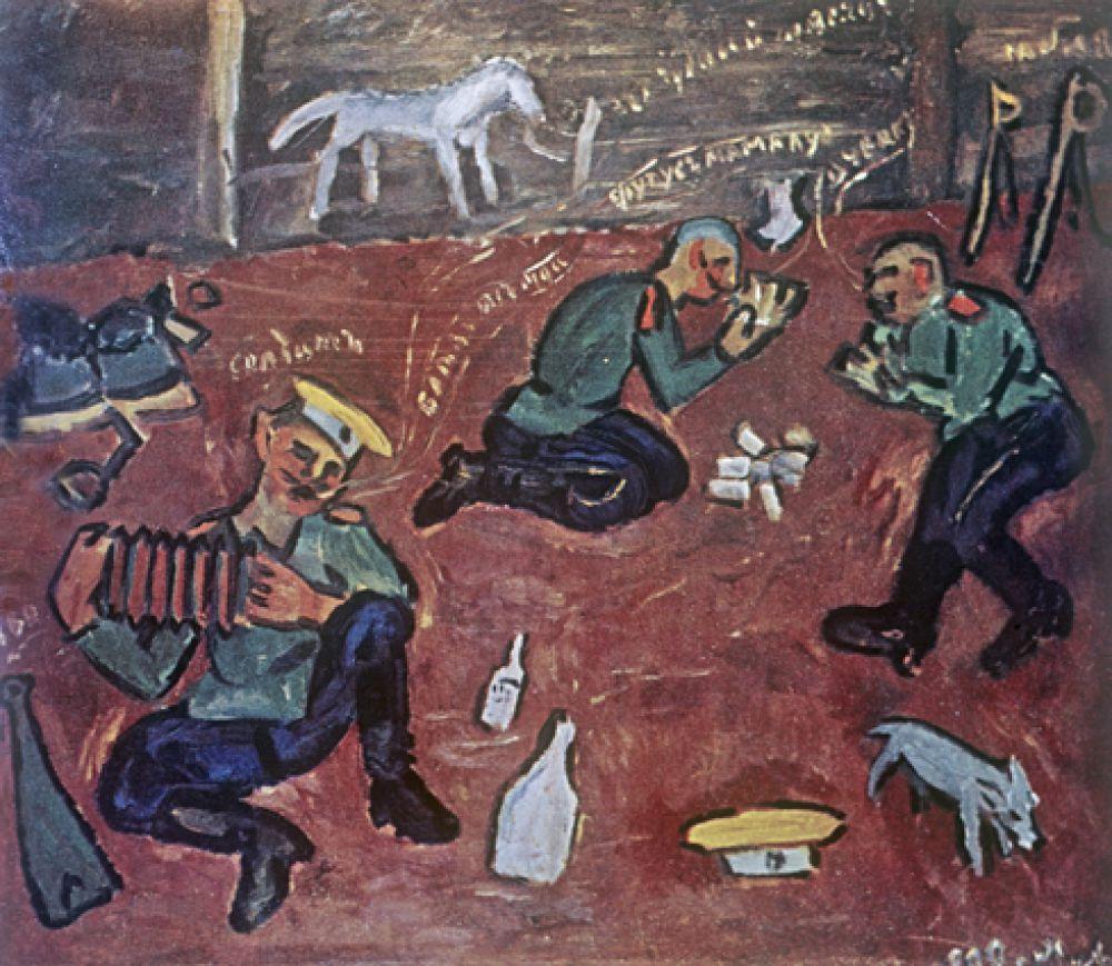 «Солдаты», 1909 год.