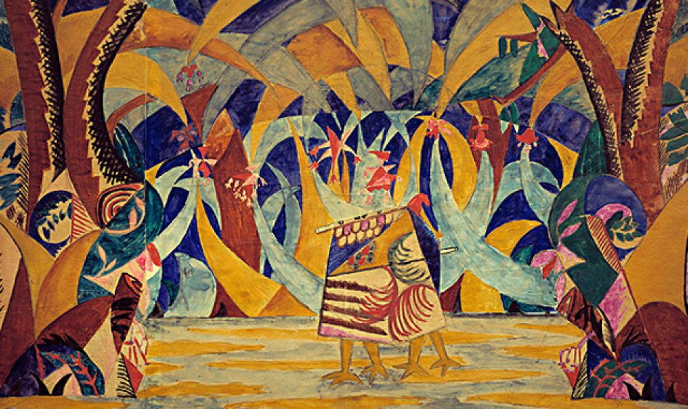 """«Лес. Эскиз декорации к балету """"Русские сказки""""», 1916 год."""