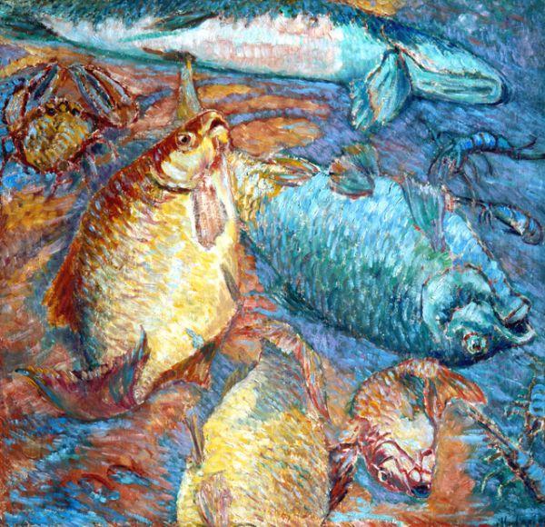«Рыбы на закате», 1904 год.