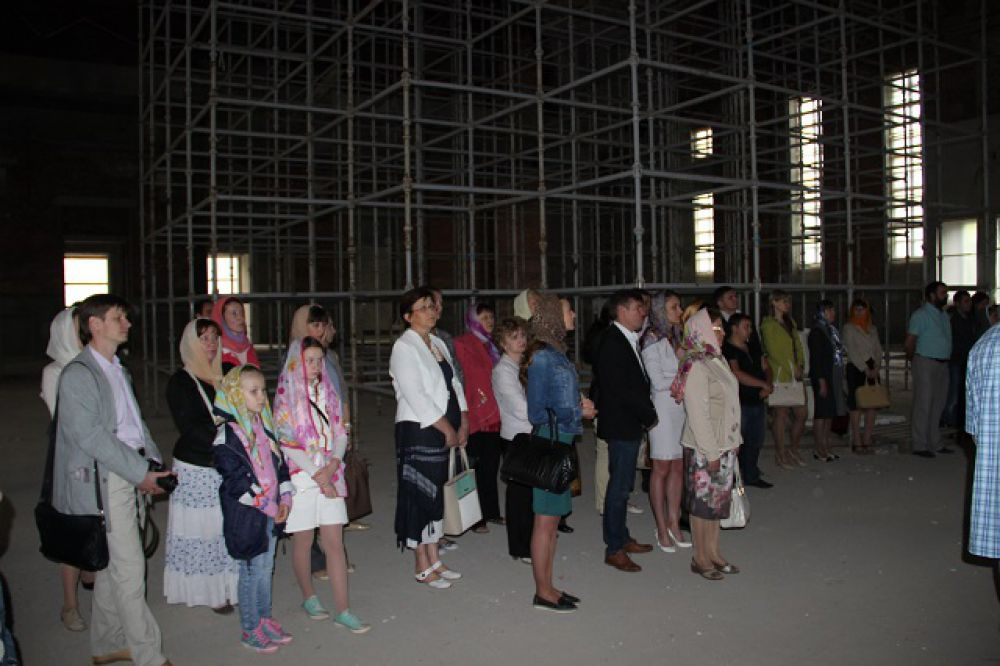 Будущие прихожане Спасского храма.