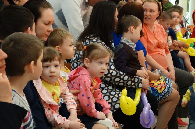 50 детей на празднике в парке Авиаторов