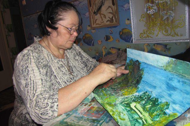 Валентина Кулька за работой.