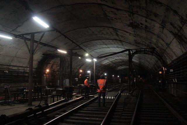 Тоннель нижегородского метро.