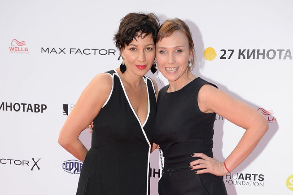 Продюсер Полина Зуева (слева) и член жюри программы «Короткий метр», актриса Дарья Екамасова.