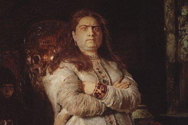 Царевна Софья в Новодевичьем монастыре. Илья Репин. 1879 год. Фрагмент.