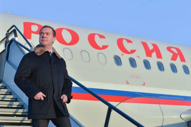 Дмитрий Медведев прилетел в Сибирь