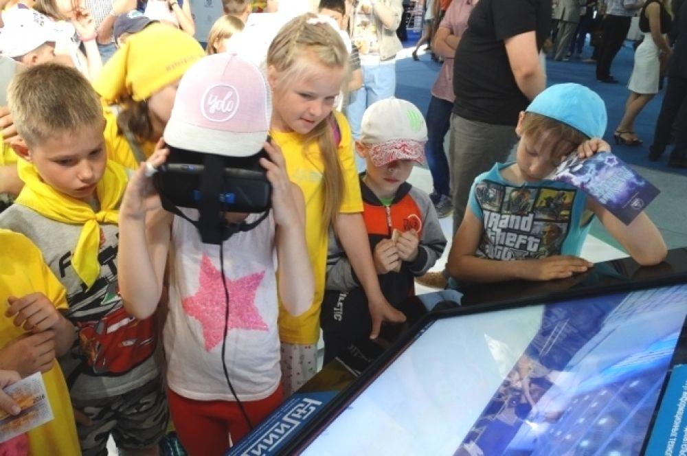 У детей есть возможность очутиться в 3D-реальности...