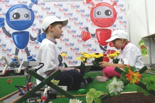 Игровая полянка с роботами.