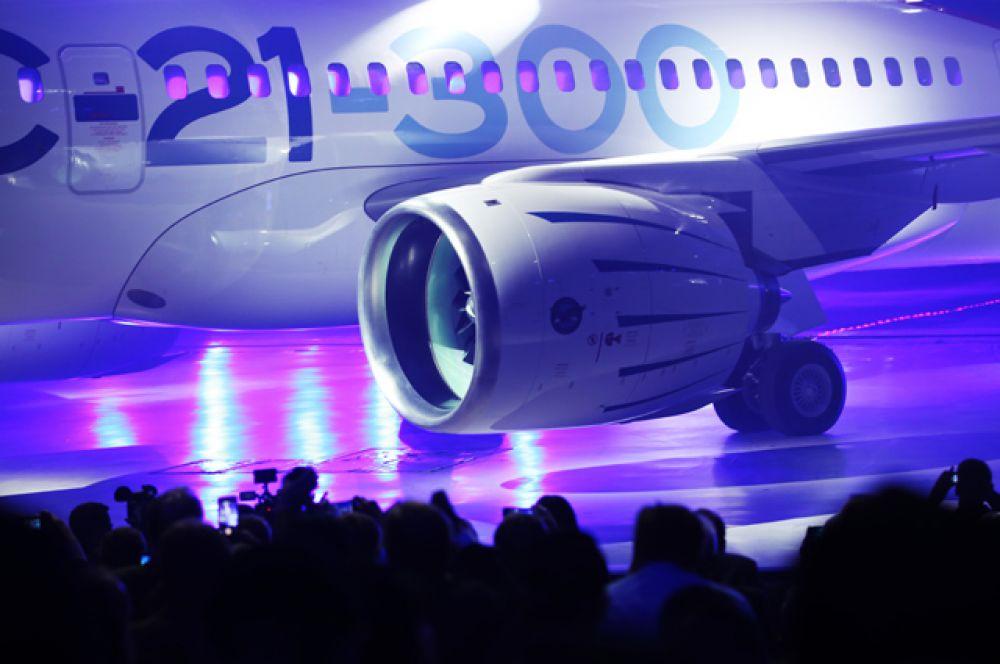 Церемония выкатки магистрального самолета МС-21-300 на Иркутском авиационном заводе корпорации «Иркут».