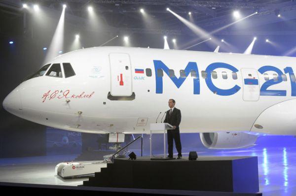 Постройку первого самолёта МС-21-300 в Иркутске завершили в начале июня 2016 года.