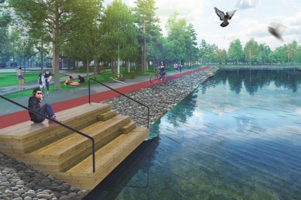 Озеро в парке благоустроят.