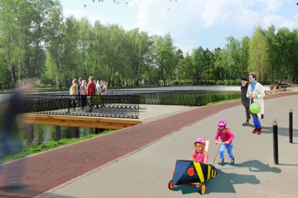 Один из трех мостов в парке полностью заменят, он не подлежит восстановлению.