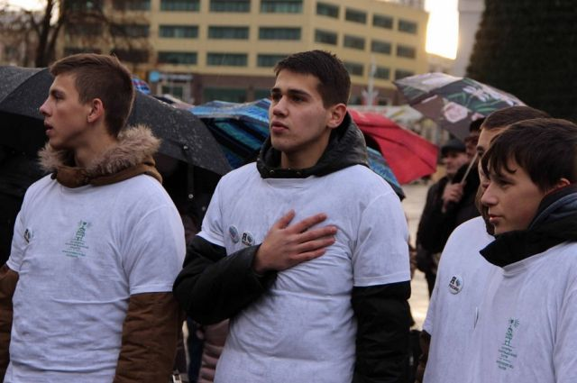 В День России калининградская молодежь хором исполнит государственный гимн.