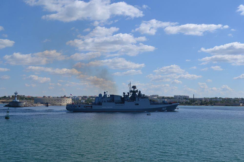 Корабль оснащен крылатыми ракетами, ракетным комплексом самообороны, артустановкой, зенитной артиллерией, реактивной бомбовой установкой, торпедами и может нести палубный вертолет Ка-27 (или Ка-31)