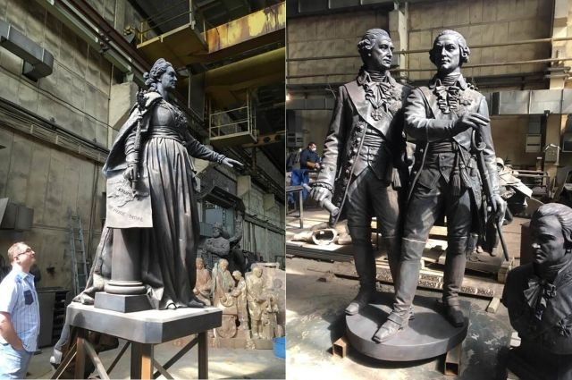 Великая императрица приехала вКрым: монумент Екатерине 2-ой привезли наполуостров