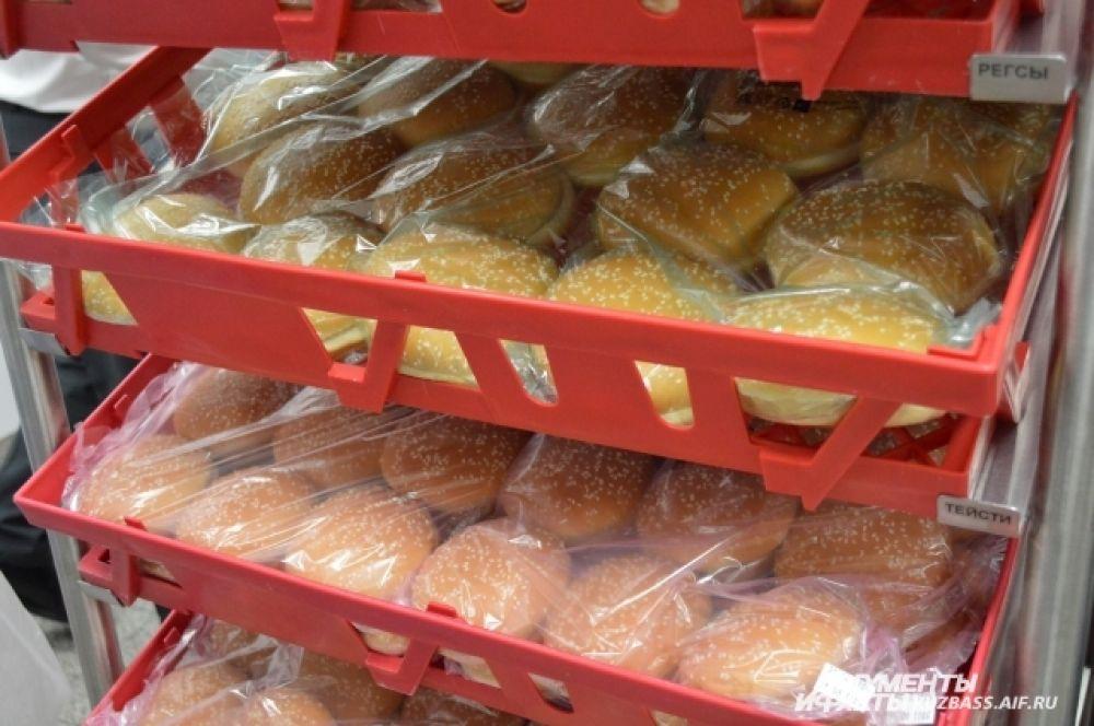 Для разных бургеров предусмотрен разный вид хлеба.