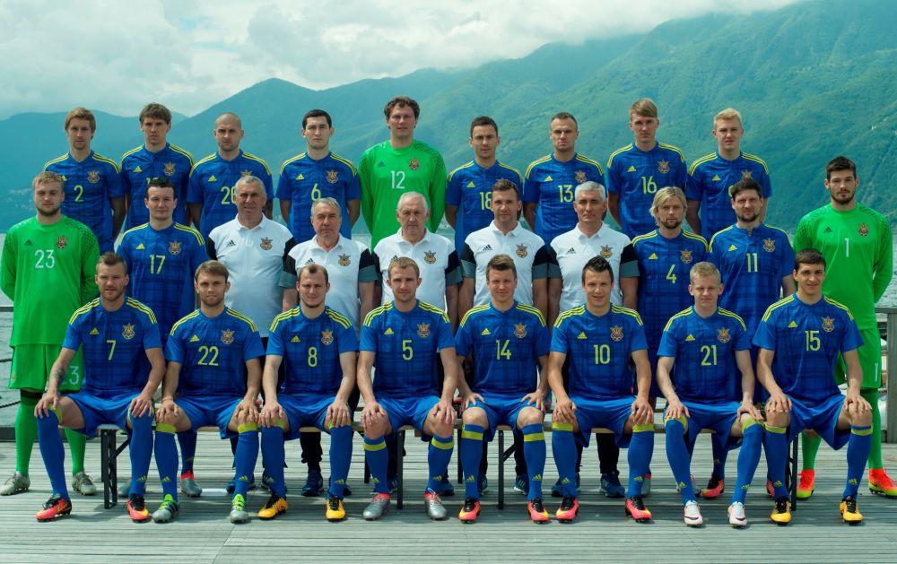 Полный состав сборной Украины по футболу.
