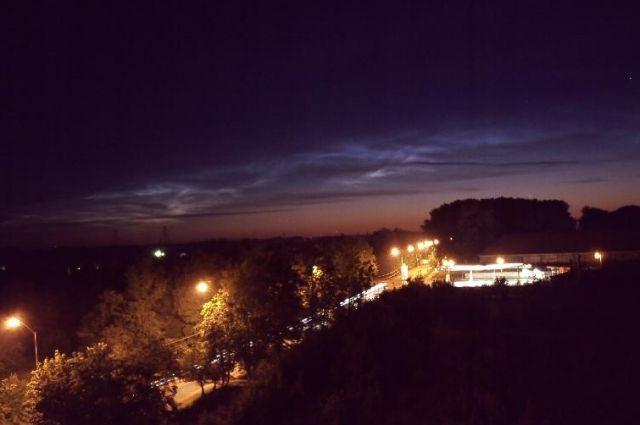 В небе над Калининградом асторономы зафиксировали серебристые облака.