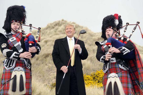 Трамп — увлечённый игрок в гольф. Он является членом клуба Winged Foot Golf Club в Мамаронеке, штат Нью-Йорк, регулярно участвует в соревнованиях на своих площадках, и даже написал книгу «Мой лучший совет по игре в гольф».