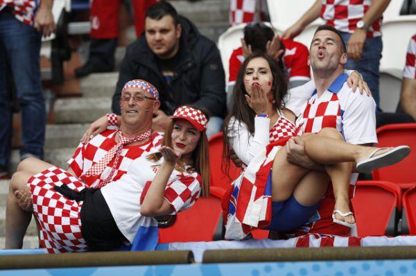Фанаты сборной Хорватии.