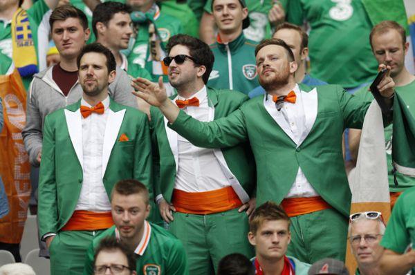 Фанаты сборной Ирландии.