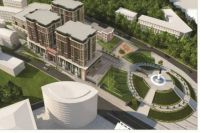 Так будет выглядеть территория за памятником Муллануру Вахитову.