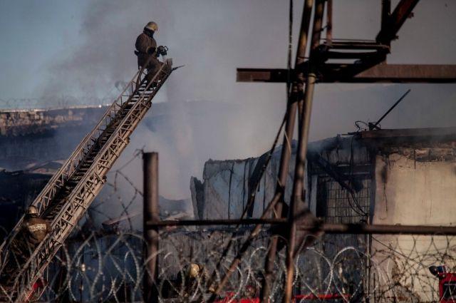 Тушение пожара в ИК-11.