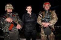 Надежда Савченко вместе с украинскими военными