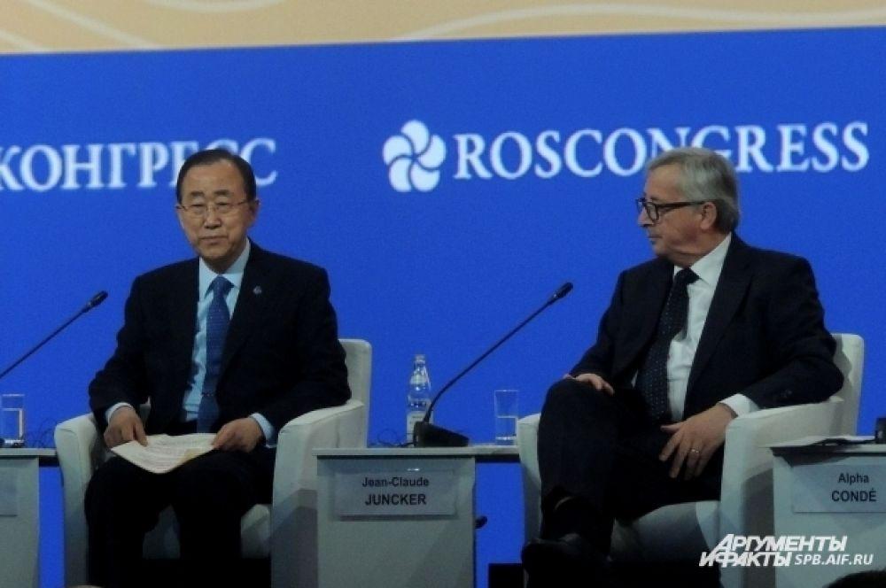 Церемонию открытия посетили Пан Ги Мун и Жан-Клод Юнкер