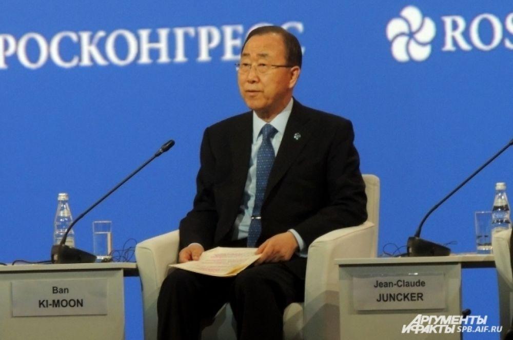Генсек ООН выразил уверенность в пользе ПМЭФ для мировой экономики