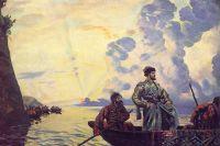 Б. М. Кустодиев. «Степан Разин» (фрагмент)