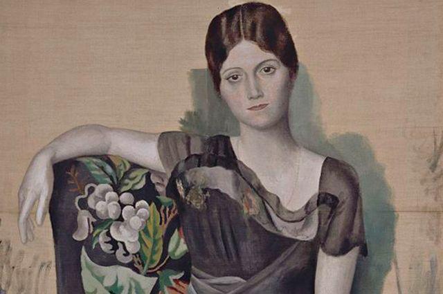 Портрет Ольги Хохловой работы Пабло Пикассо.
