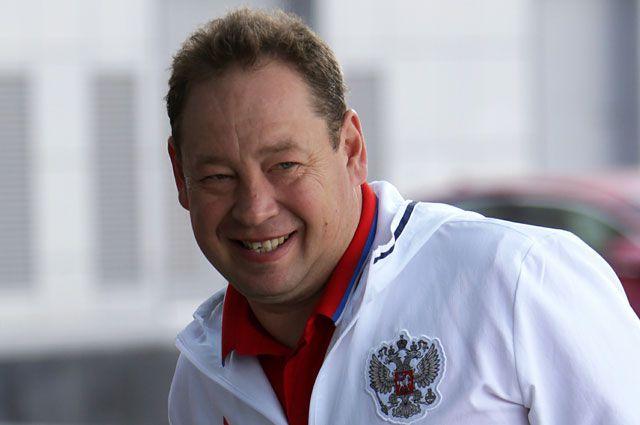 Главный тренер сборной России по футболу Леонид Слуцкий.