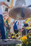Это первый из 13-ти колоколов, которые будут установлены в Свято-Троицком храме Волгодонской епархии.