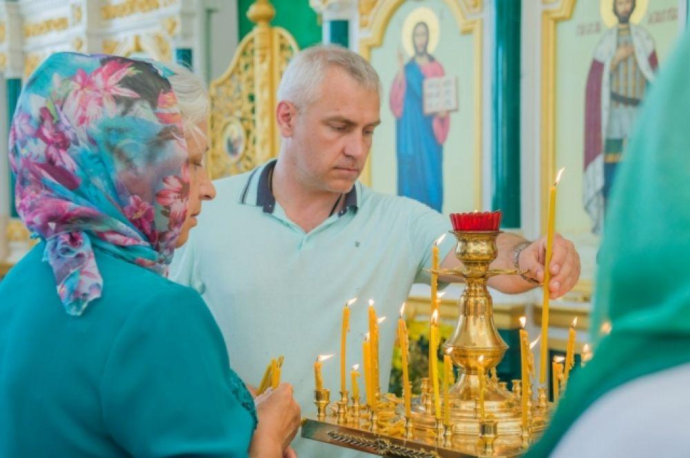 Предприниматель Дмитрий Яковенко - один из инициаторов и сподвижников строительства Свято-Троицкого храма.